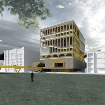 PROJECT // Music vertical school by Juan Larrota. DESCRIPTION // This project is an exploration of a music vertical school as a social and urban catalyst for Wentworth Park in Ultimo NSW.